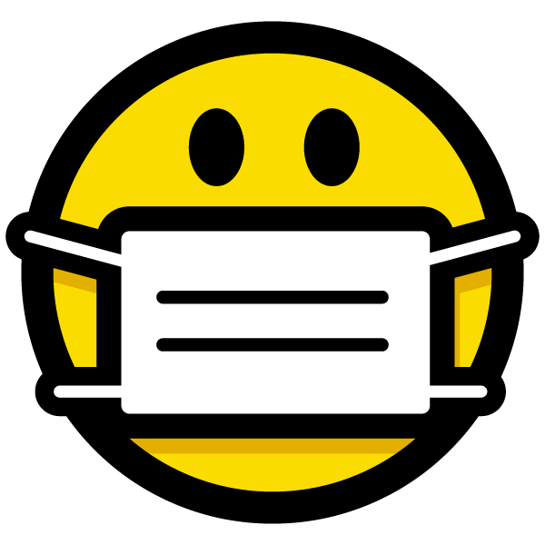 surgical-style face mask icon