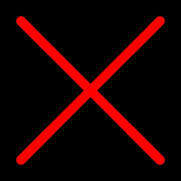 """X to Coronavirus"" icon"