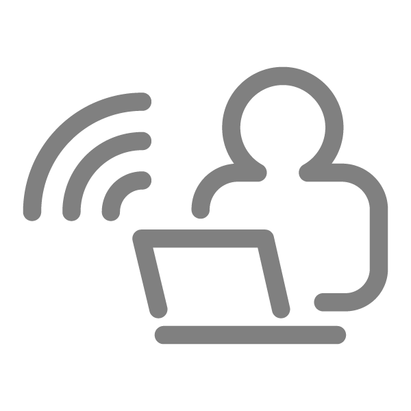Remote work icon (gray)