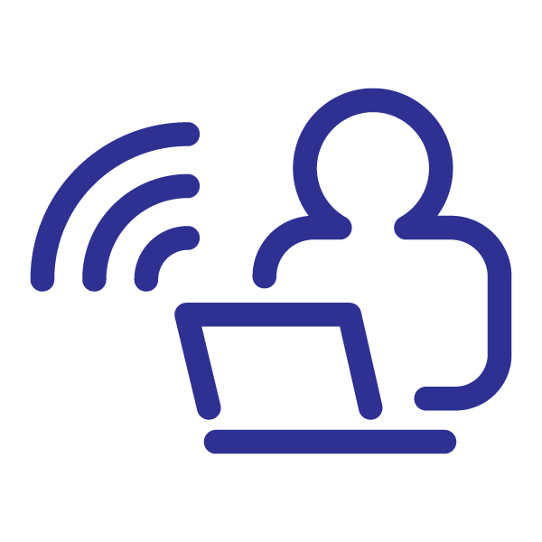 Remote work icon (blue)