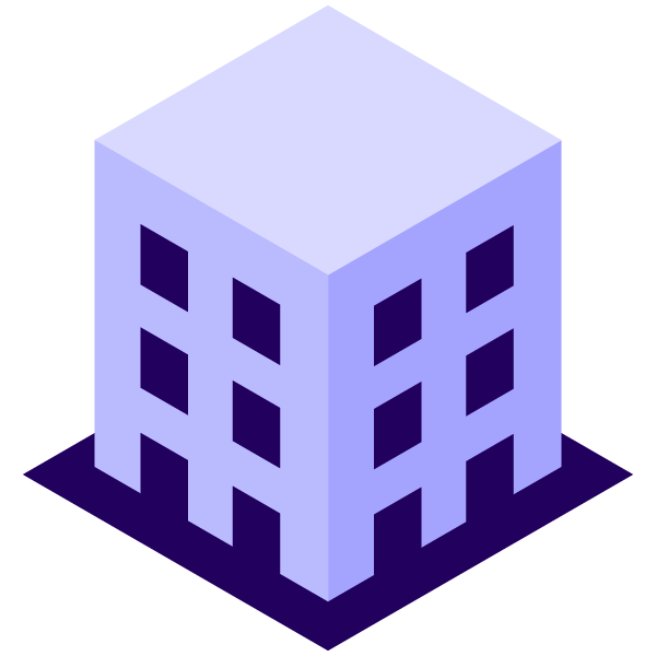 Company building illustration icon