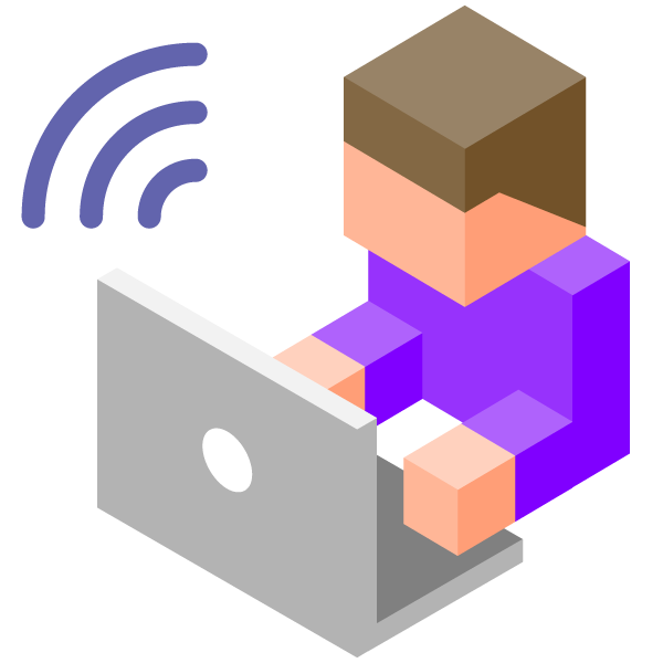 Illustration icon of remote work with PC(Sending and receiving)