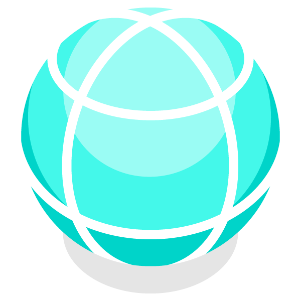 Illustration icon of global network (earth)