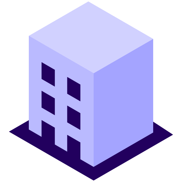 Company building illustration icon (simple)