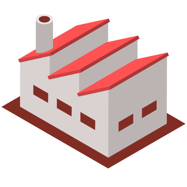 Factory illustration icon (red)