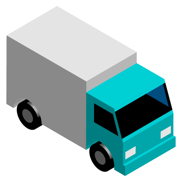 Transport truck illustration icon ()