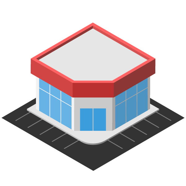 Large store illustration icon