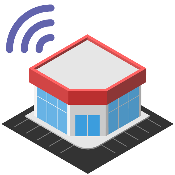 Large store illustration icon (online)