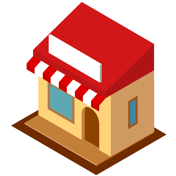 Shop illustration icon