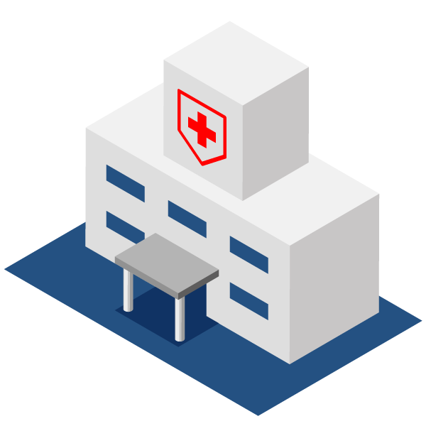 Hospital illustration icon