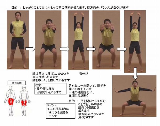 「大東元気でまっせ」体操の一例