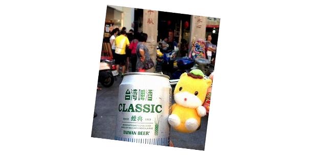 台湾ビールとぐんまちゃん。地方自治体だからできる世界の国々との国際交流もある