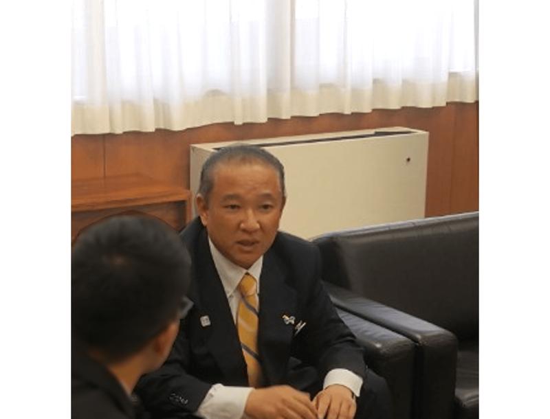 相模原市の本村賢太郎市長。「SDGsの一層の周知と浸透が課題」(本村市長)
