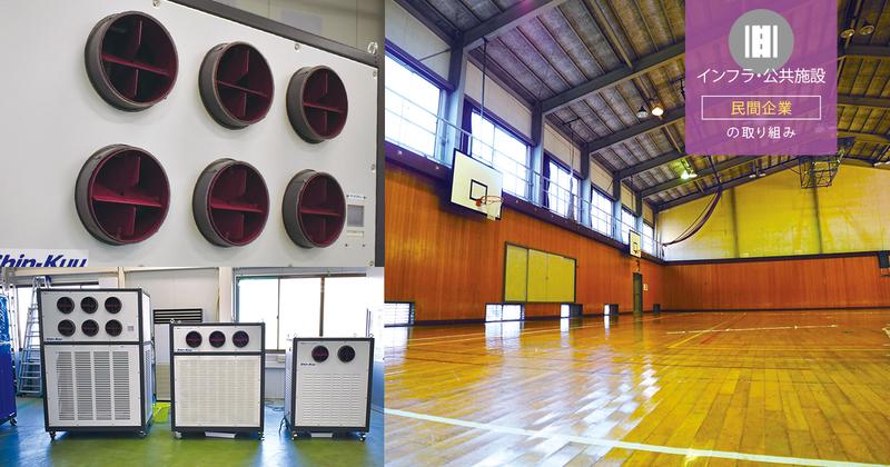 広い公共施設の熱中症対策に適した「移動式エアコン」に注目