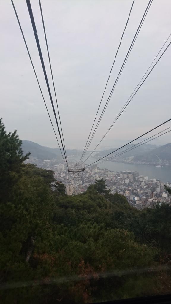 千光寺山頂上行きのロープウェイ 案内図1