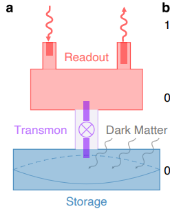 Superconducting transmon qubit coupled with storage cavity