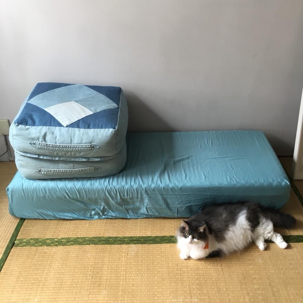 【三つ折りマットレスが大変身】寝具をおしゃれなソファーにアレンジする裏技
