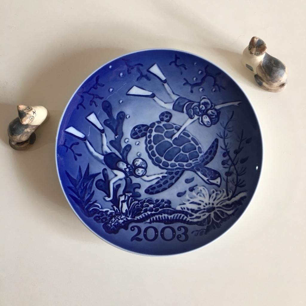 ロイヤルコペンハーゲンのミレニアムプレートコレクション 2000 2001 2002 2003 2004 2005