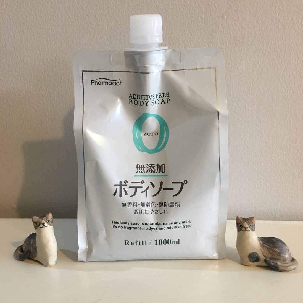 【コスパ最強】洗剤を一本化したいミニマリストにオススメの液体石鹸 ファーマアクト 無添加ボディソープ 詰替用1000ml