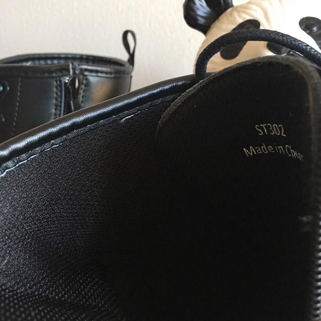 Dr.マーチン8ホールブーツの偽物、楽天でサイドジップ付2990円で購入