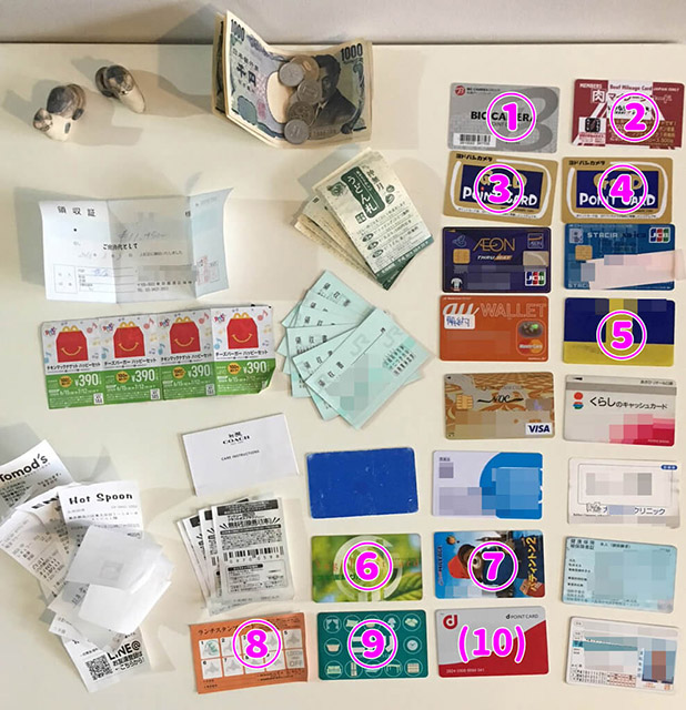 財布の中身の断捨離方法教えます!カードを整理して、無駄づかいを減らそう