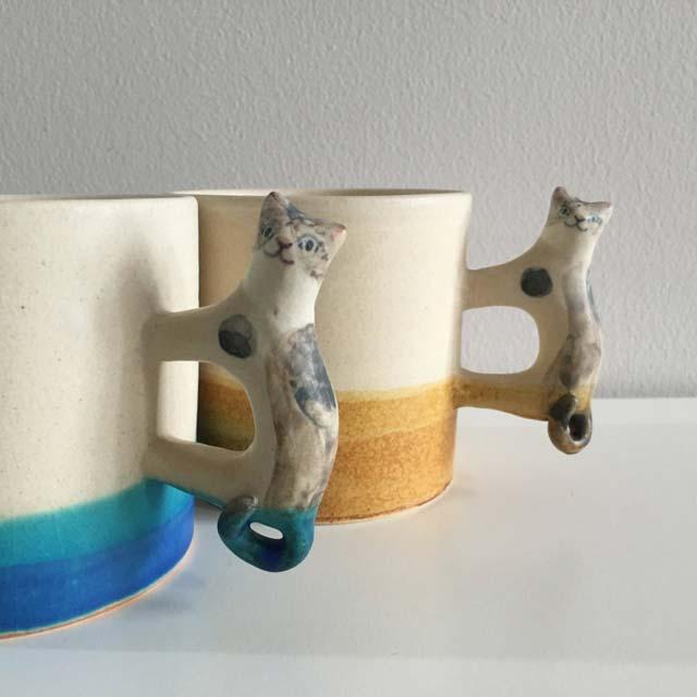 足田メロウ(イラストレーター・陶芸家)の猫マグカップがかわいくてメロメロ