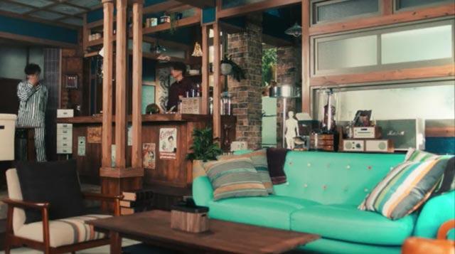 「東京BTH~TOKYO BLOOD TYPE HOUSE~」のインテリア:リビングルーム