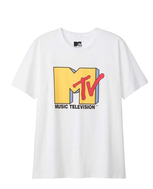 MTVロゴTシャツ白ーグラフィックT(半袖)MTV2