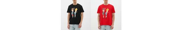 ビーバス・アンドバッドヘッドモチーフのTシャツが1種2色