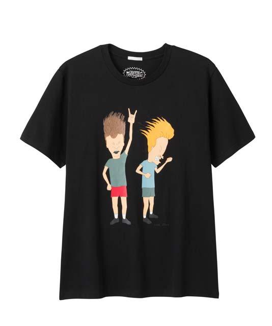 ビーバス・アンドバッドヘッドモチーフのTシャツが1種各2色