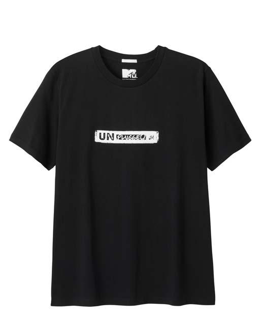GU×MTVアンプラグドロゴのTシャツが1種各2色