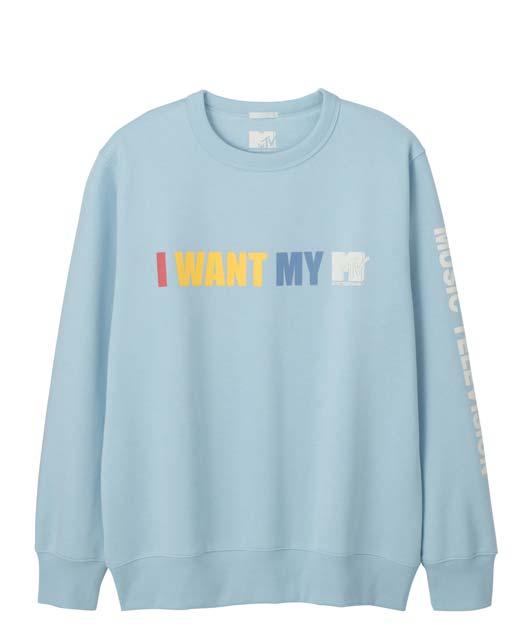 GU×MTVなんかパジャマみたいなパーカーとトレーナーが2種各2色