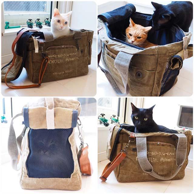 犬猫用ペットキャリー|人気猫も使ってる!おしゃれで機能的なキャリーバッグ
