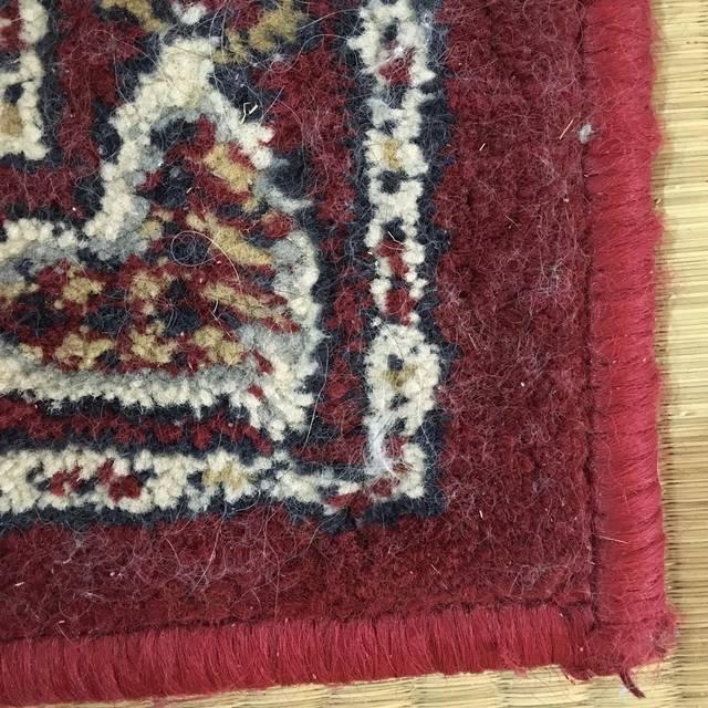ダイソーの洋服ブラシでカーペットの猫の毛どれだけ取れたかビフォーアフター