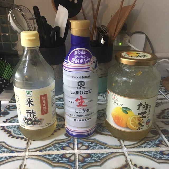 ポン酢代用レシピ|超簡単!レモン不要!醤油とお酢とゆずジャムのゆずポン