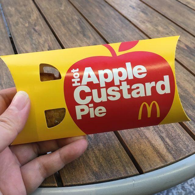 マクドナルドのホットアップルカスタードパイが3月6日から期間限定で発売中〜濃厚カスタードとシナモンたっぷりの角切りアップルは相性バツグン