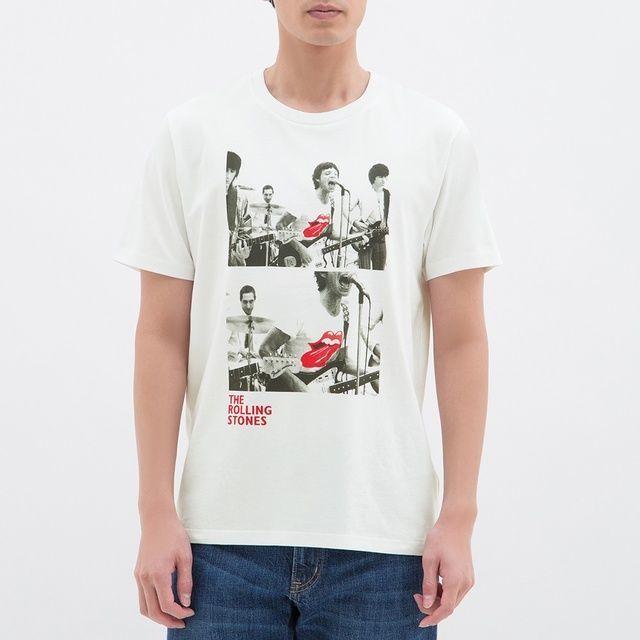 GUでは3月4日よりザ・ローリング・ストーンズのグラフィックTシャツ27デザインを790円より販売中。メンズ、レディース、キッズとサイズ展開も豊富
