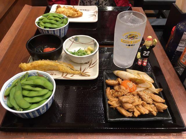 丸亀製麺飲み放題「大人の丸亀 Cセット」1300円