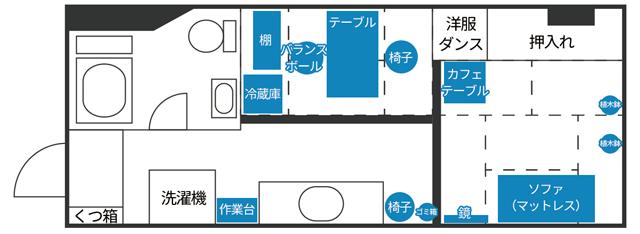 【我が家の間取り図公開】2人暮らしで30平米クソ築50年の狭いマンション