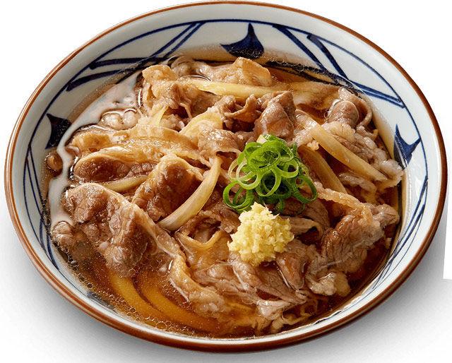 オススメメニューその1)肉うどんにちくわの天ぷら