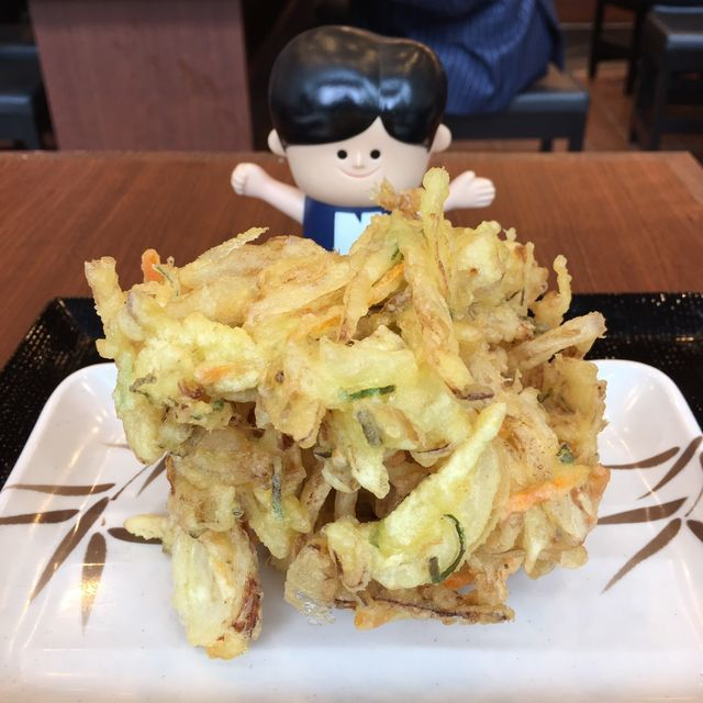 丸亀製麺おすすめメニュー かけうどん+おにぎり+かき揚げ天ぷら