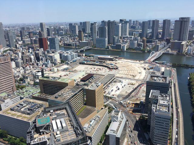 築地解体開始4ヶ月後(2019年3月10日)