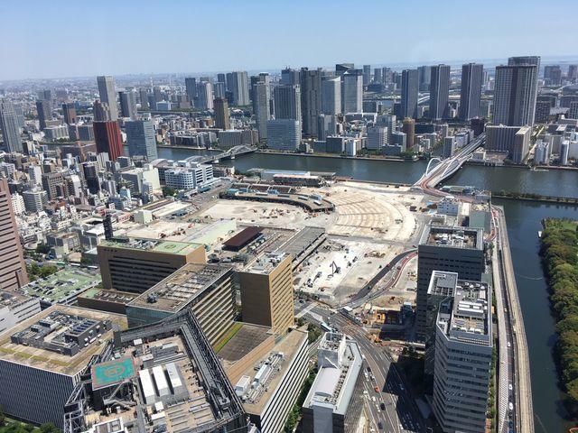 【写真あり】築地市場が閉場して7ヶ月後の様子を上空から撮影