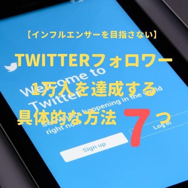 Twitterフォロワー1万人を1年以内に達成した具体的な方法7つ