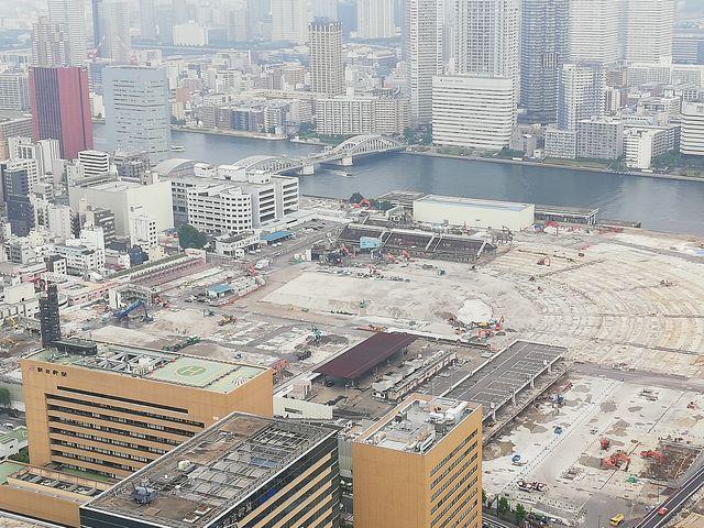 2019年7月2日に撮影した、築地市場が閉場して9ヶ月後の様子