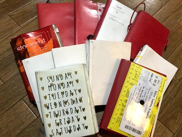 スケジュール手帳を断捨離|モノを減らしてリスクを減らす