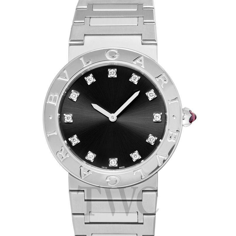 ミニマリストが選ぶ女性用腕時計その3:ブルガリ(Bulgari Bvlgari Lady 33mm Gemstone Grey Dial)