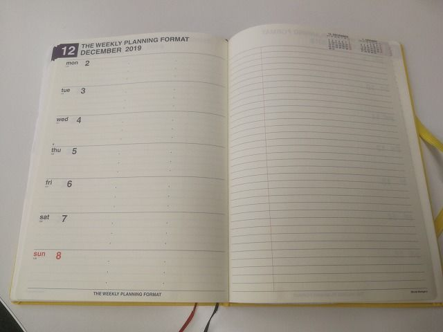 2020年オススメ手帳は「ミニットマネージャー」