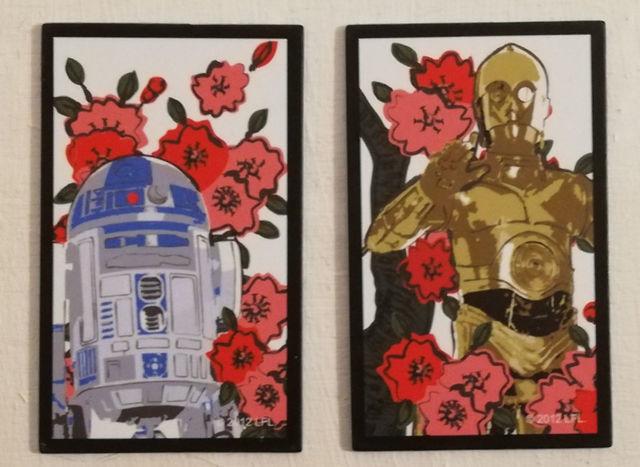 スター・ウォーズ花札オリジナル役:R2-D2とC3-POで親友