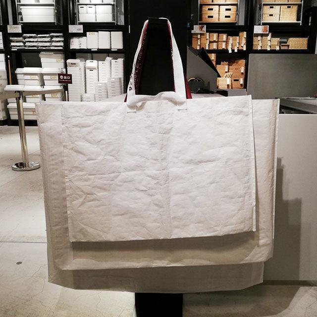 無印用品の再生ポリプロピレンバッグのサイズ詳細